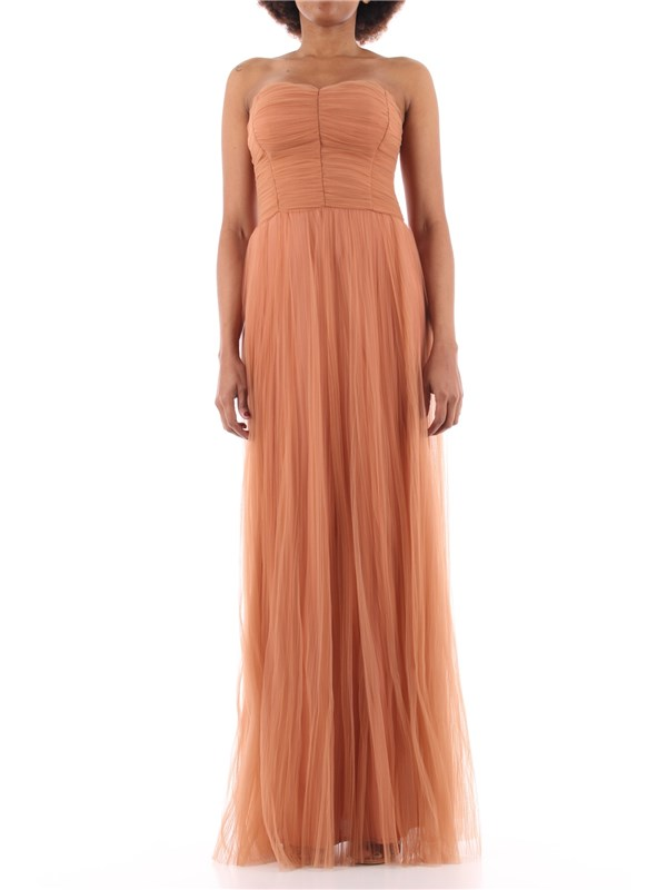 Elisabetta Franchi Long dress Rose gold