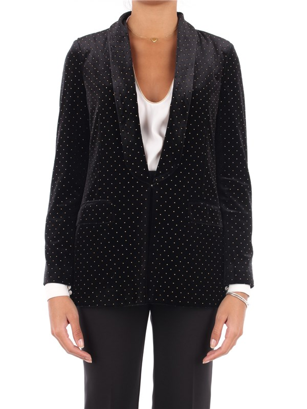 LIU  JO Jacket Black / gold