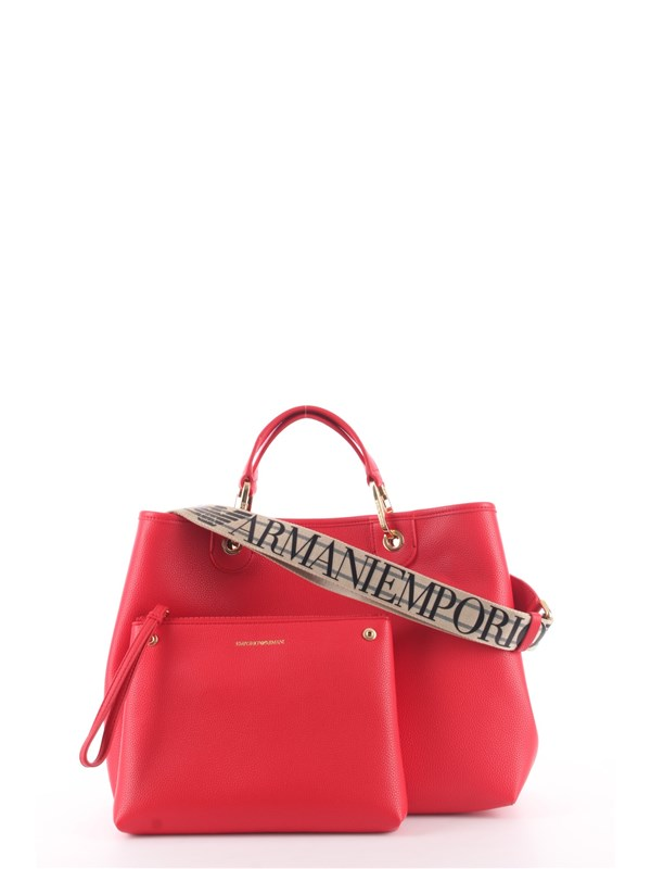 Emporio Armani Shopping Bag Red / silver
