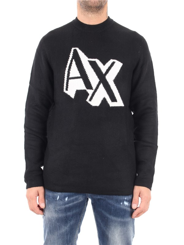 Armani Exchange Sweater Black / white