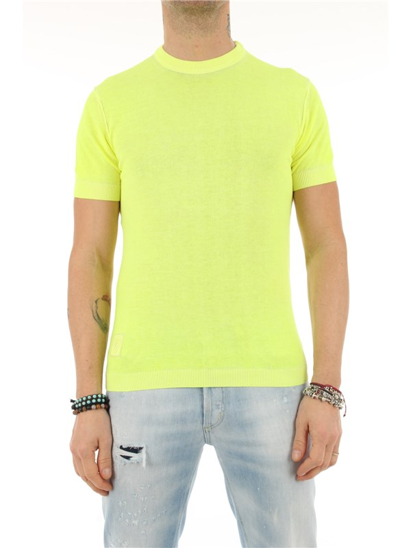 Blauer Sweater Fluo yellow
