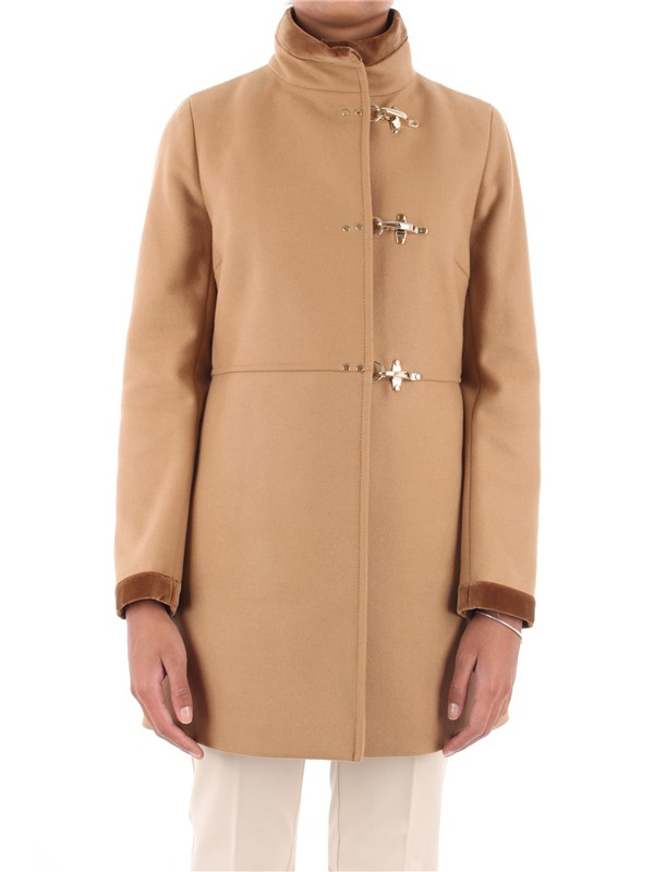 FAY Overcoat Light camel