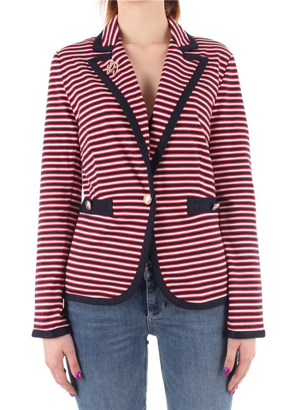 LIU  JO Blazer Night / red / white
