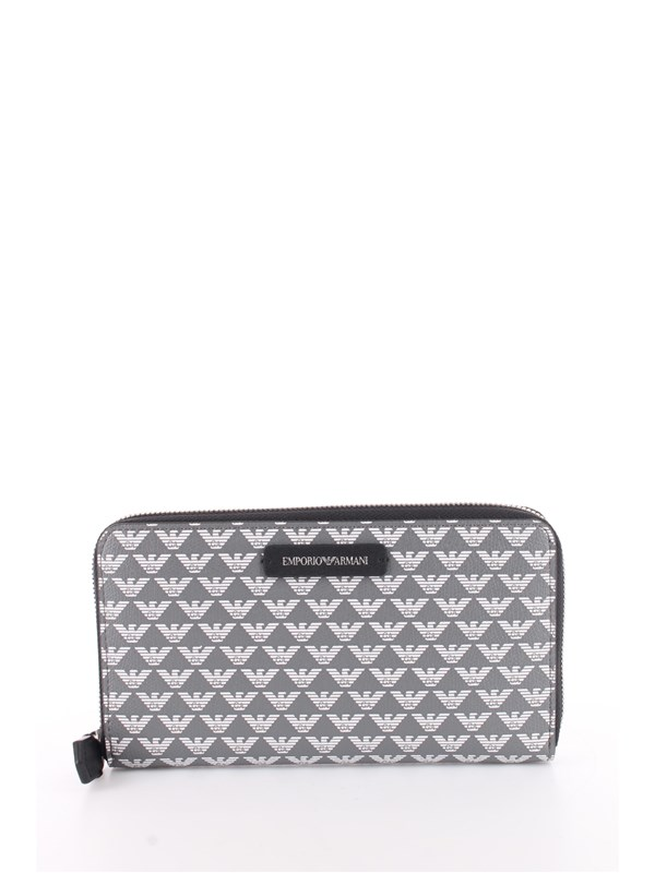 Emporio Armani Wallet Anthracite / black