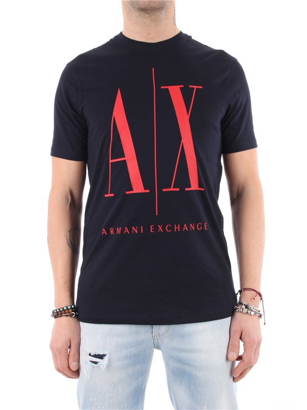 Armani Exchange T-shirt Navy / ab.red