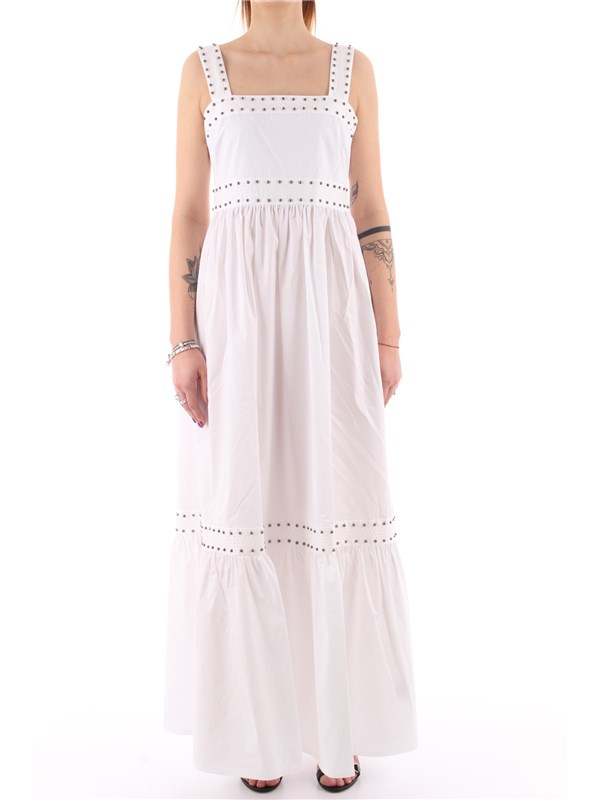TWINSET Long dress Optical white