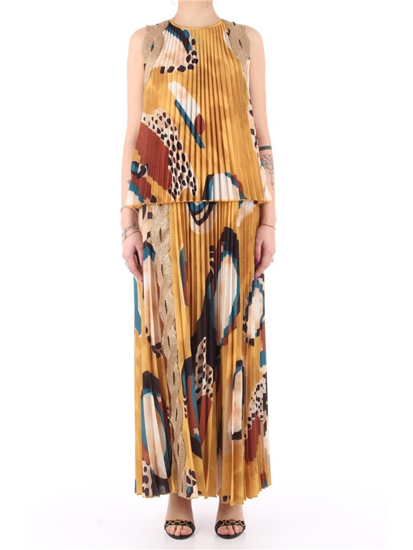 Manila Grace Long dress Mustard