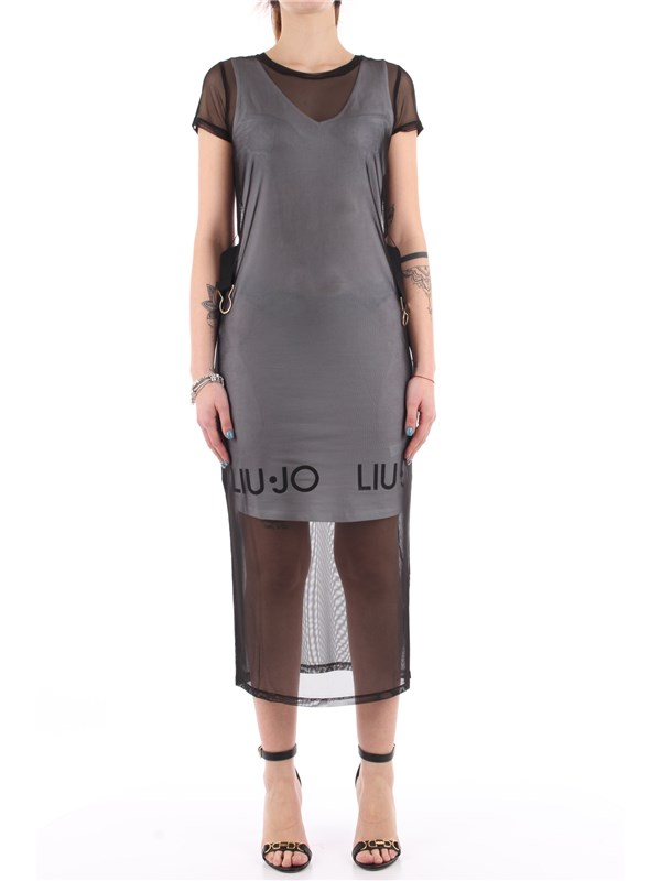 LIU-JO SPORT Long dress Black White