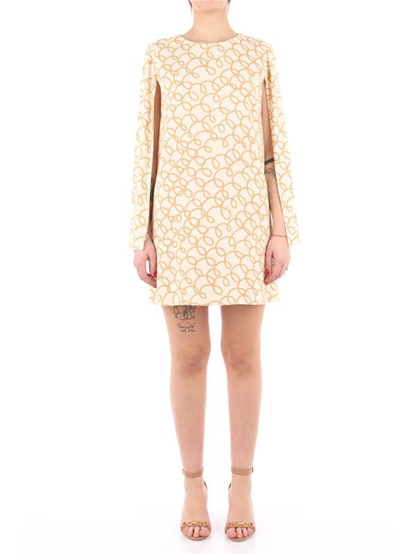 Elisabetta Franchi Short dress Butter / camel