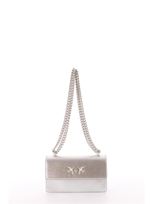 Pinko Pelletteria Shoulder bag Silver