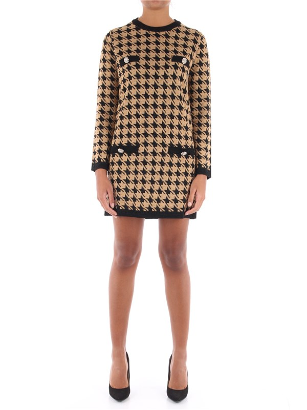 KAOS Short dress Camel