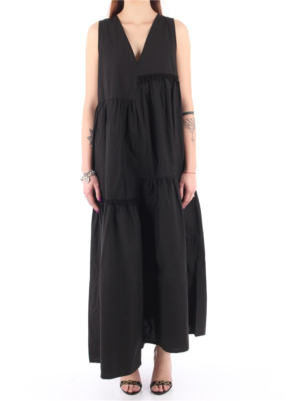 Manila Grace Long dress Black