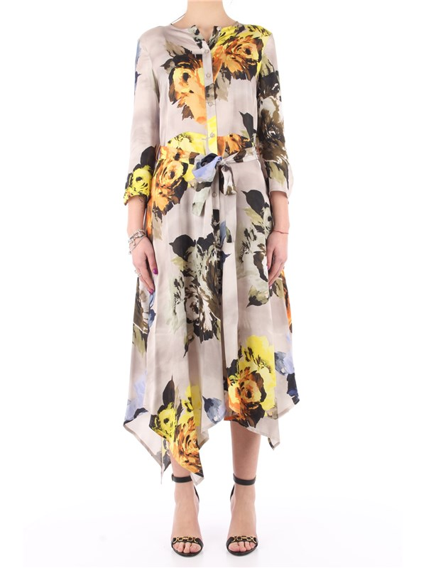 Manila Grace Long dress Tortora
