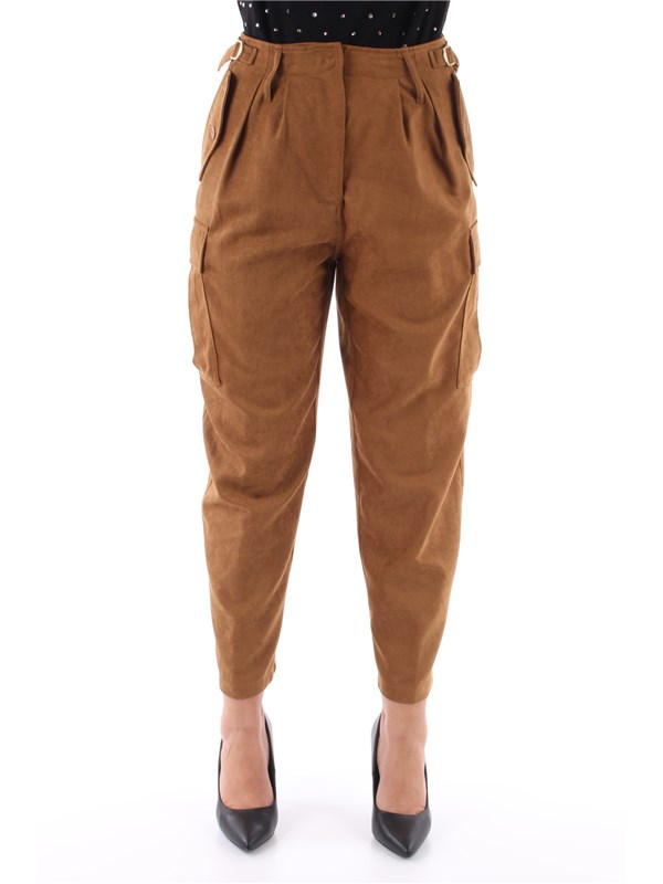 LIU  JO Pantalone Brown cork