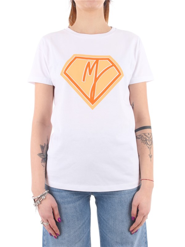 Manila Grace T-shirt White / orange