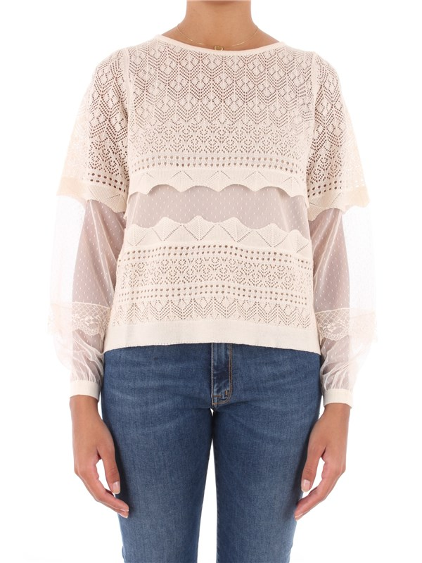 TWINSET Sweater White cream