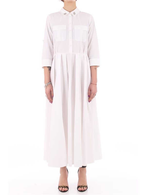 ACTITUDE by TWINSET Long dress Optical white