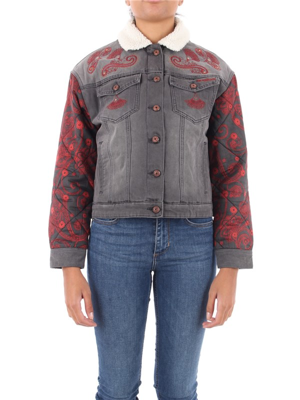 Desigual Coat Blac wash denim