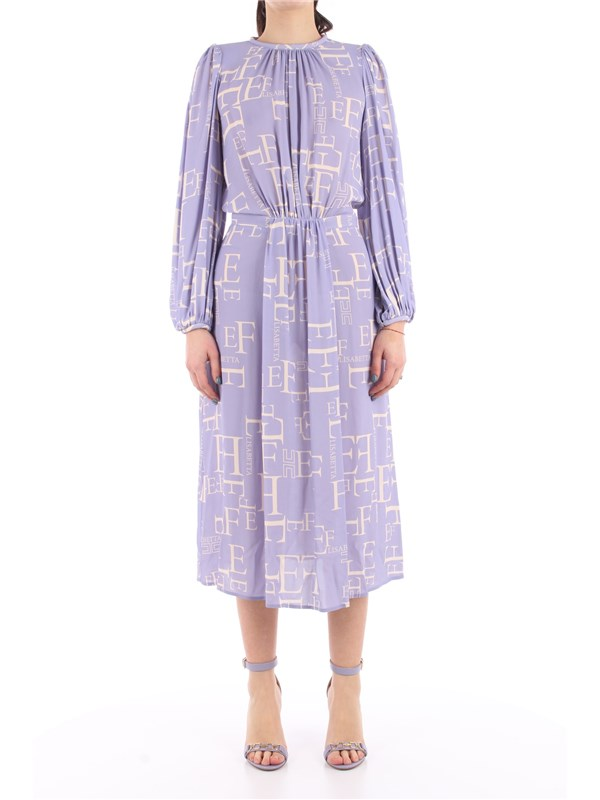 Elisabetta Franchi Chemisier dress Lavender / butter