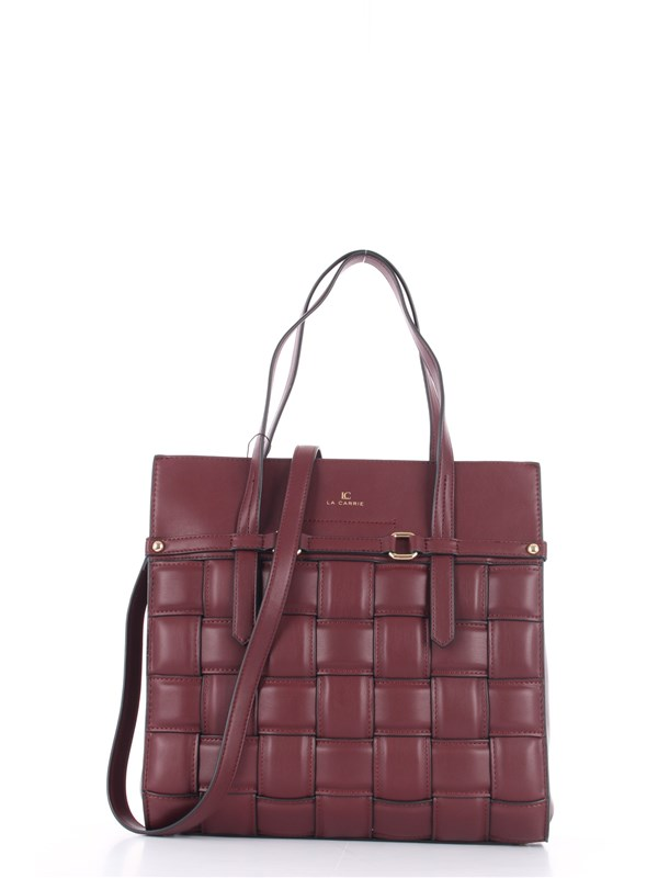 LA CARRIE Shopping Bag Burgundy