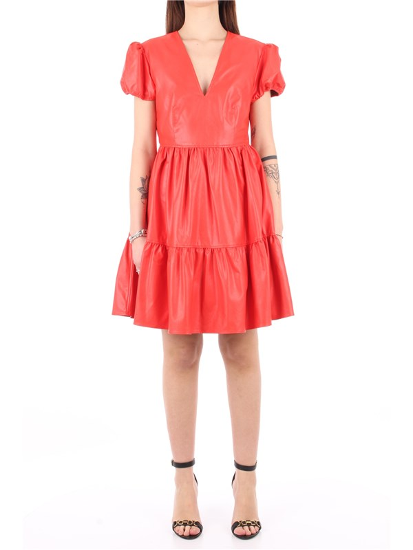 TWINSET Short dress Red orange