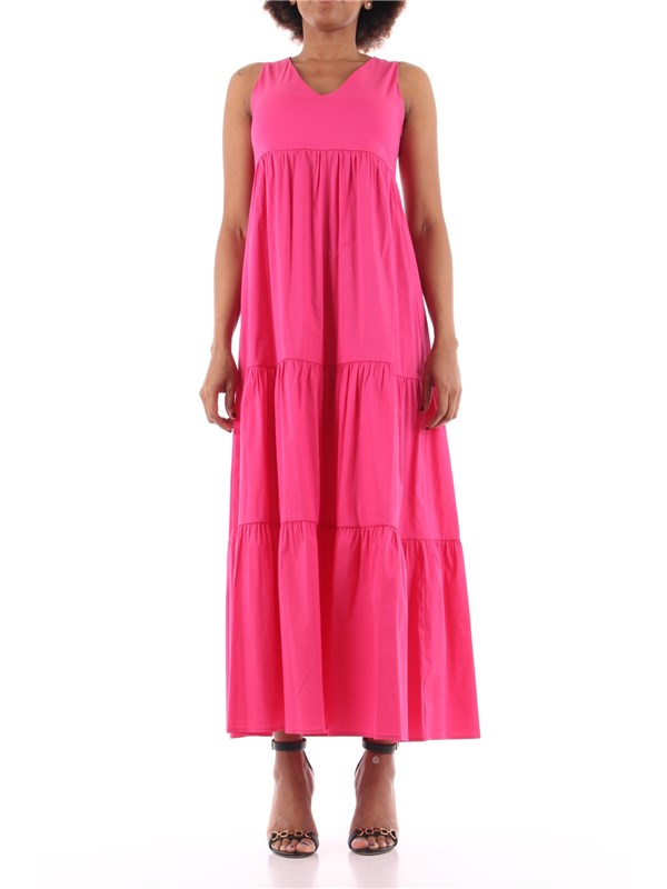 KAOS Long dress fuchsia