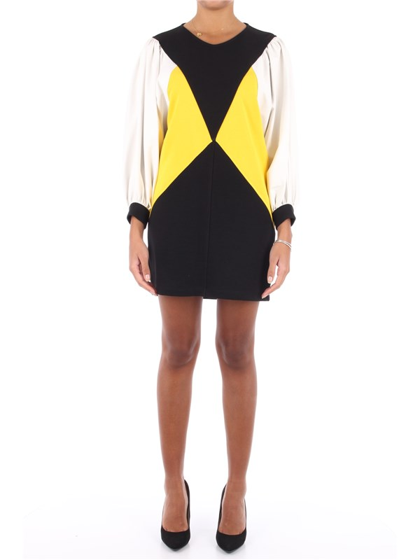 Jijil Short dress Black / Yellow
