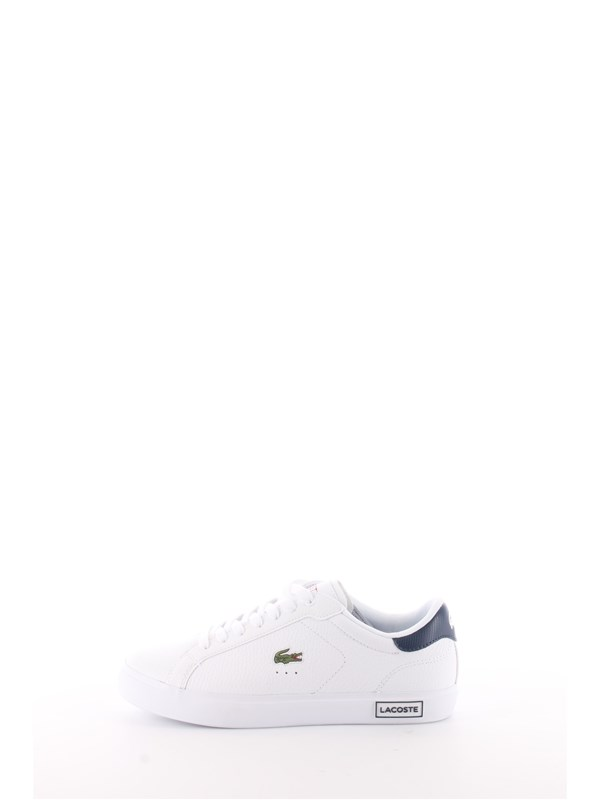 LACOSTE Sneakers White / navy / red