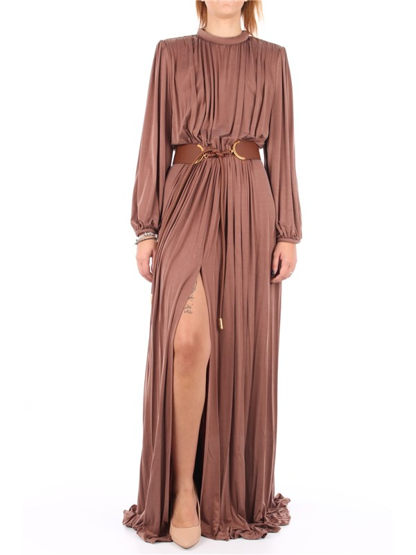 Elisabetta Franchi Long dress Chocolate