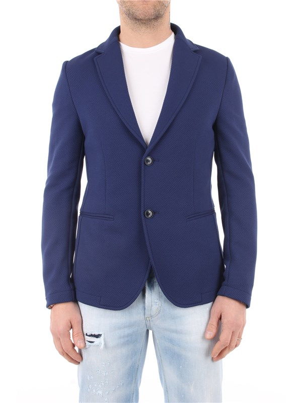 DANIELE ALESSANDRINI Jacket Royal blue