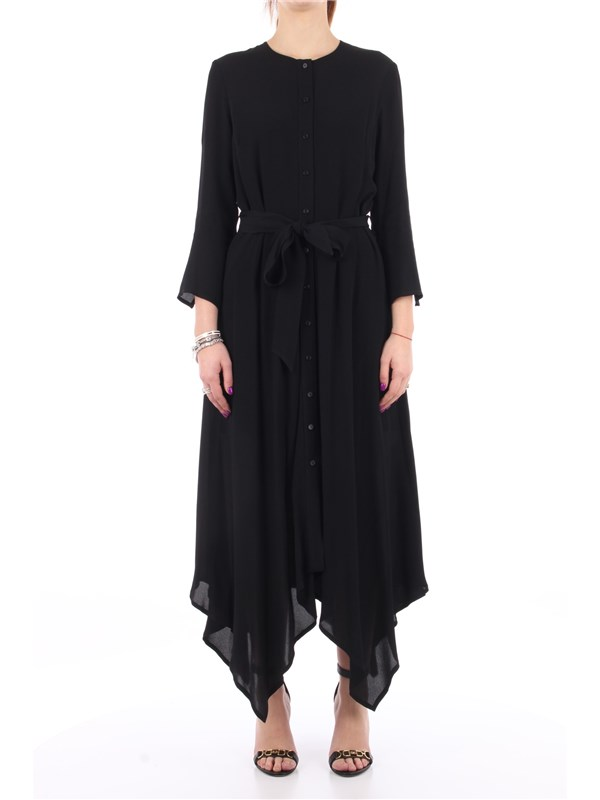 Manila Grace Midi dress Black