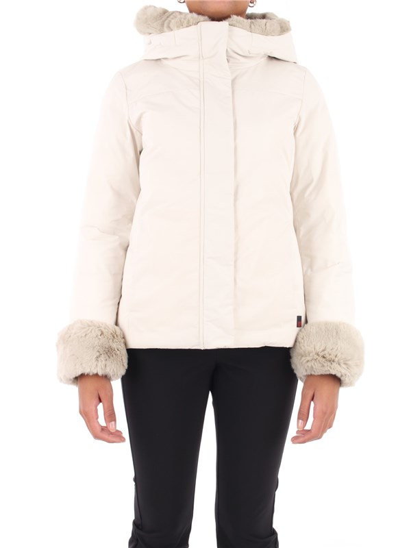 Woolrich Coat White stone