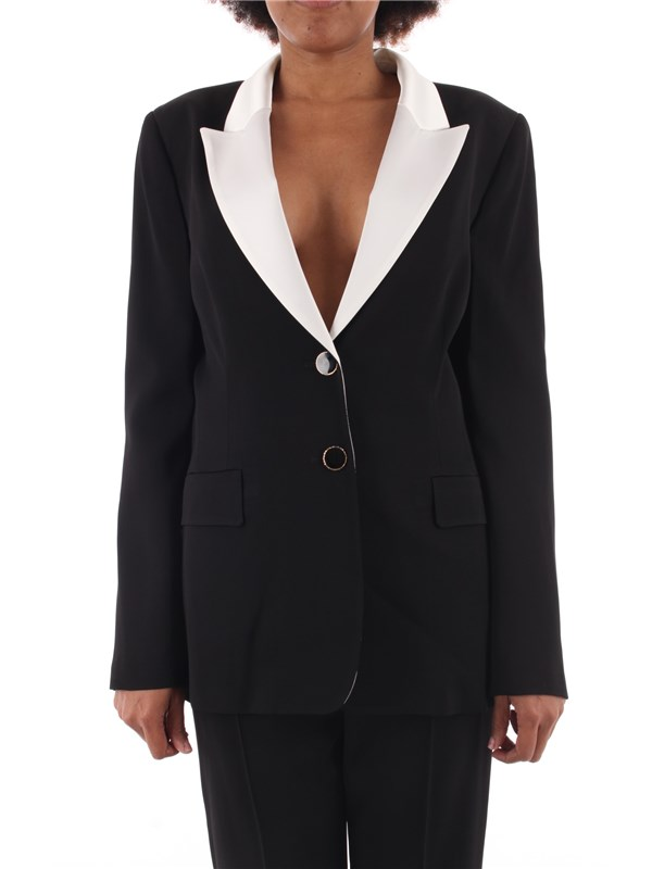 Anna Molinari Jacket Black White