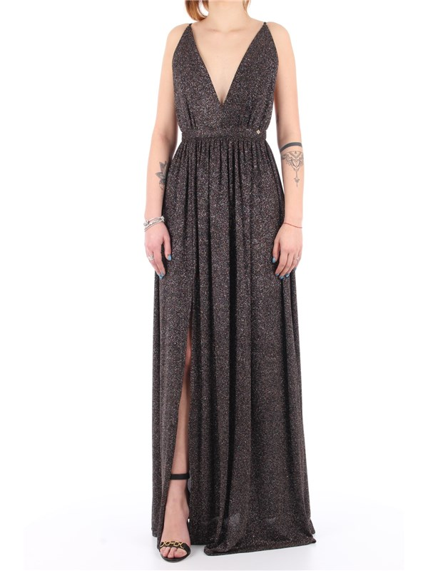 Kocca Long dress Metallic black