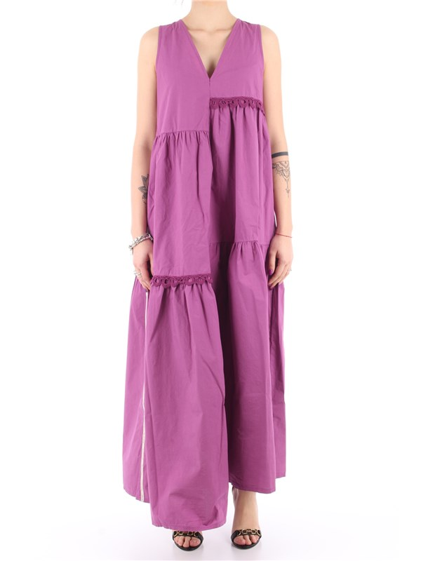 Manila Grace Long dress Grapes