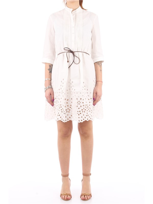 Manila Grace Short dress Off white