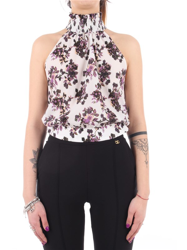 Pinko Top White / lilac