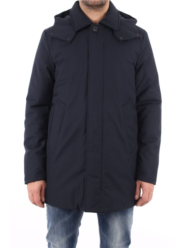 Woolrich Coat Melton blue